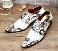 Wholesale 2015 NEW arrival patent leather Men dress shoes fashion stylist white oxford shoes Top quality designer brand men Wedding shoes NXX160