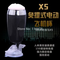 Cheap Hands free masturbator electric men masturbation toy pocket pussy cyber skin vagina vibrator for men penis trainer male sex toys