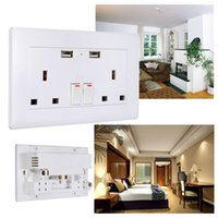Wholesale Dual USB Port Electric Wall Charger Dock Socket Power Outlet Panel Plate