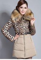 Wholesale winter women desigual coat overcoat autumn coat Down Coat skirt Leopard down jacket FEATHER FABRIC Long Sleeve