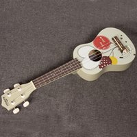 Wholesale 21 inches quality Hawaii basswood ukulele with cartoon images for kids