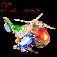 aircraft running lights - Kids Toys LED Light Emitting Toys Electric Helicopter Only Run On The Ground Can Not Fly Aircraft Model