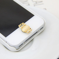 Wholesale New arrival cute little bunny shapes opal alloy material buttons stickers phone keypad W1394