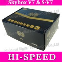 Wholesale 5pcs NEW SKYBOX V7 Digital Satellite Receiver S V7 S V7 with AV output VFD Screen WEB TV USB Wifi G Biss Key Youporn CCCAMD NEWCAMD