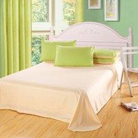 almond machine - Classic Pure color Plain Mixed colors cotton Bedding Set Duvet Cover Bedding Sheet Bedspread Green Almond