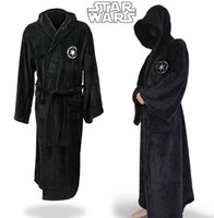 Wholesale 2016 Hot Star Wars The Force Awakens Darth Vader Terry Coral Fleece Jedi Adult Bathrobe Robes Halloween Cosplay Costume for Men Sleepwear