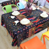 Wholesale Hot New Fashion Tablecloth Cotton Linen Table Cover Printed Restaurant Home Decor Rectangle Table Cloth JM0118 kevinstyle