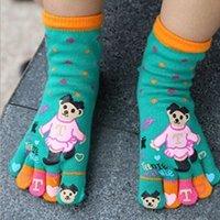 Wholesale Fashion pair Cute Kids Socks Lovely Cartoon Five Fingers Kids Toe Socks For Children Ankle Socks VT0020 salebags