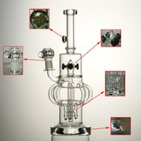 rocket - High quality quot inches glass bong bottom mm thickness arm perc with gear perc rocket outline mm joint