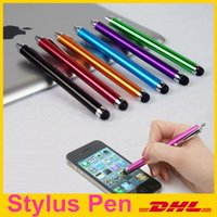 Wholesale 4 inch Metal Color Universal Capacitive Touch Screen Stylus Pen for Smart phone tablet pc