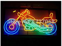 advertising bikes - Motorcycle Motorbike Bike Neon Sign Light Store Display Beer Bar Handmade Real Glass Tube Customized Racing Advertised Neon Signs quot X15 quot