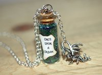 beauty dragons - 12pcs Maleficent the Movie glass Bottle Necklace Once Upon a Creepy Dream with a Dragon Charm Sleeping Beauty Inspired necklace