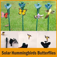 Wholesale New Arrival Solar Hummingbirds Butterflies Garden Toys Students Enlightenment Educational Toys Solar And Battery Combo Child s Gift