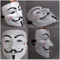 balls for decoration - 1000pcs CCA2555 V Mask Masquerade Masks For Vendetta Anonymous Valentine Ball Party Decoration Full Face Halloween Super Scary Party Mask