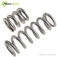 Wholesale ROCKBROS Titanium Front Rear Coil Spring Suspension Shock Shox for Birdy Bike Parts Slive