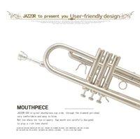 Wholesale jazzor trumpet JATR silver trompete musical instrument corneta trompeta Falling Tune B instrumentos musicais