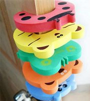 Wholesale 5 Child kids Baby Animal Cartoon Jammers Stop Door stopper holder lock Safety Guard Finger Protect A2