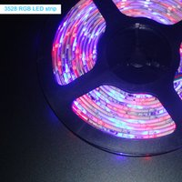 Wholesale SMD3528 RGB Multi Color Led Flexible Rope Light M Leds Led per Meter Waterproof Ribbon with or44 IR Controller with A Power Supply