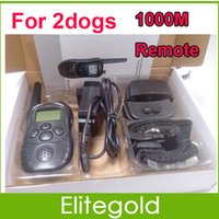 Training Collars 1000m dog shock collar - Dog Training Collar For Two Dogs Rechargeable And Waterproof LCD LV Level Shock Vibra Remote Training