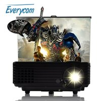 Wholesale Support Korean New EC HD Home Theater MINI Projector For Video Games TV Movie Support HDMI VGA AV Portable proyector