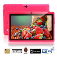 Wholesale iRULU Inch Q88 Tablet PC Android4 A33 G Capacitive Screen WIFI MID Quad Core Dual Camera Kids Tablet
