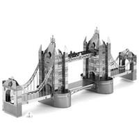 3d puzzles - DIY London Tower Bridge D Metal Puzzle Toy XHMP001 Miniature Model Scale Decoration DIY Mini Puzzle Space Toy