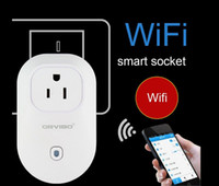 Wholesale White Wifi Samrt Switch Socket light weight S20 Cell Smart Phone Home Wireless Remote Control Support WiFi network