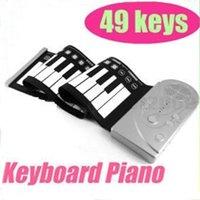 Precio de Piano del teclado suave 49-Venta caliente Portátil Flexible Rollo de 49 teclas Tecla Suave Sintetizador de Piano Electrónico del Teclado Plegable de Silicona Suave Teclados Electrónicos de Piano