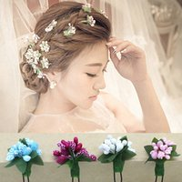 beautiful wedding hairstyles - Fashion Bridal Hairpins With Flowers Beautiful Flora Headpieces Fashion Headwear For Wedding In Stock Hair Clips Hairstyle