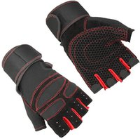 Wholesale Unisex Fitness Weight Lifting Glove with Long Wrist Wrap Support KGL001