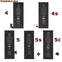 Wholesale 100 Original Internal battery for iphone S S C battery reacement mah s mah mah s mah c mah mah