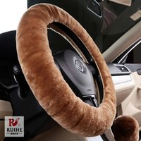 Wholesale Plush car steering wheels cover CM car wheels covers cute women heated steering covers car Accessories Steering Covers