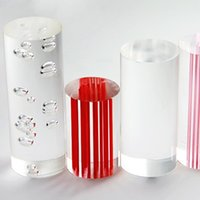 acrylic bubble rod - acrylic clear rods with bubbles inside of OD25mm x mm home decor use for light accessories can cut into any length