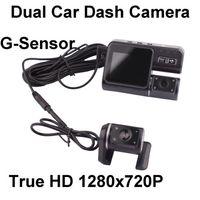 Wholesale True HD P Dual Car Camera H Dash car DVR Video Recorder Crash Cam w G sensor