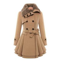 Wholesale Hot sale brand new Women Woolen Thicken Warm Winter Coat Hood Parka Overcoat Long Jacket Outwear
