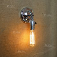Wholesale Newest Loft American country style wrought iron industry retro personality small wall lamp bedroom interior passage Edison light