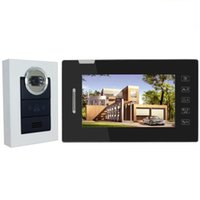 Wholesale IR Night Vision Doorbell for Villa Home Touch Key Take Photo quot TFT LCD Color Video Door Phone Intercom Security System