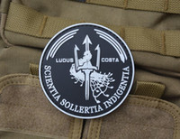Wholesale PVC armband cm velcro morale patches patch military armband Velcro badges outdoor Costa ludus luminous at night