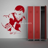 art mike - Home Decor Wall Sticker IRON MIKE TYSON BOXER WALL ART STICKER wall Decal DIY Home Decoration Wall Mural Removable Bedroom