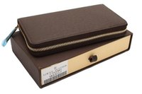 genuine leather wallet - 1 High quality leather wallet new short wallet Genuine leather Wallet Mens Wallets Black Brown card wallet With Original box