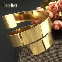 Wholesale 2015 New Fashion Gold Plated Alloy Gift Layering Metal Strip Opened Women Charm Jewelry Accessories Cuff Bangles B372