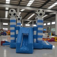 inflatable games inflatable bouncer - AOQI hot sale football shape tarpaulin inflatable bouncer inflatable sport games bouncers for chidren make in China
