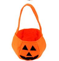 Wholesale Halloween Smile Pumpkin Bag Kids Candy Bag Children Handhold bag Party Supplies Ttrick or Treat