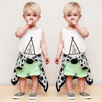 children tank tops - Baby Suit Boys Clothing Sets Toddler Clothes Infant Outfits White Tank Tops Summer Shorts Boys Suits Children Set Kids Outfits