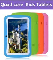 Wholesale Cheap Kids Touch Screen Tablets - cheap tablets 7 inch Quad Core Children Kids Tablet PC 512MB 8GB Android 5.1 Children Educational Apps Christmas best gift DHL FREE