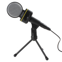 Wholesale SF Black Computer Laptop Professional mm Plug Sound Condenser Microphone CAS_748