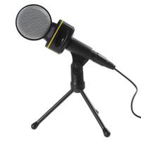 Wholesale SF Black Computer Laptop Professional mm Plug Sound Condenser Microphone CAS_748