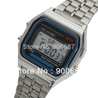Cheap Wholesale-Cheap Price Men Metal Band Multifunction LED Digital Watches Ultra-thin Wrist Watch High Quality Items