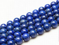 semi precious loose beads - Hot Sale quot Natural Lapis Lazuli Round Beads Semi Precious Stone mm Loose Beads