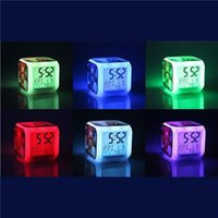 Wholesale Minecraft Alarm Clock Creeper Clock with LED Multifunction Night Light Electronic Alarm Clock Toys Creative Digital Alarm Clock Decoration